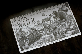 Print We walk for Water