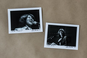 Fotografi Leni Sinclair Aretha Franklin & Patti Smith
